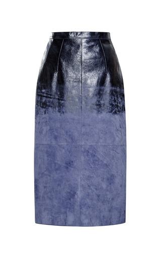Medium aquilano rimondi navy acid washed nappa pencil skirt