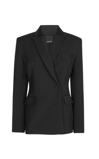 Medium josh goot black tuxedo tailoring double breasted blazer