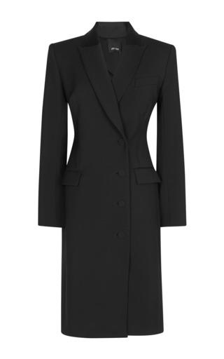 Medium josh goot black tuxedo tailoring double breasted coat dress