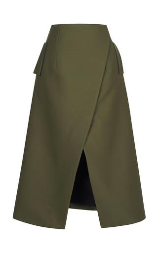 Medium josh goot khaki tuxedo tailoring midi long line skirt