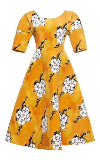 Medium tata naka orange wallpaper full skirt dress