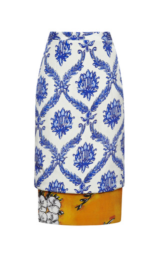 Medium tata naka porcelain wallpaper double layer skirt