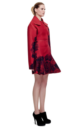 Floral Stamped Wool Coat by GIAMBATTISTA VALLI for Preorder on Moda Operandi