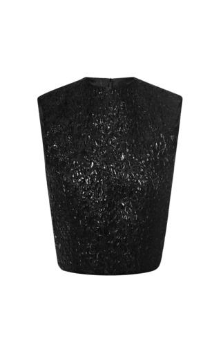 Medium giambattista valli black floral cloquet top