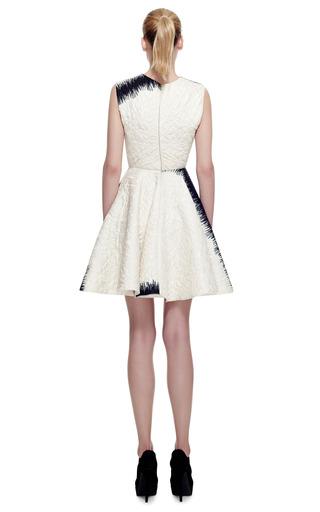 Metallic Stamped Jacquard Dress With Wheel Skirt by GIAMBATTISTA VALLI for Preorder on Moda Operandi