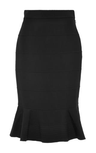 Medium oscar de la renta black ruffle skirt