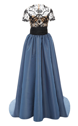 Medium marchesa black ribbon embroidered ball gown