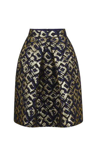 Medium martin grant gold brocade bell skirt