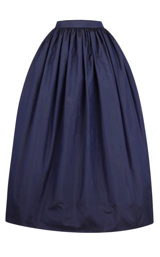 Medium martin grant navy long taffeta skirt
