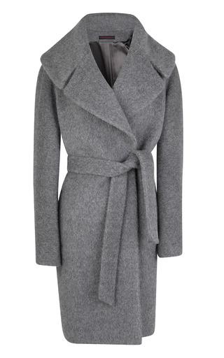 Medium martin grant dark grey large collar belted coat