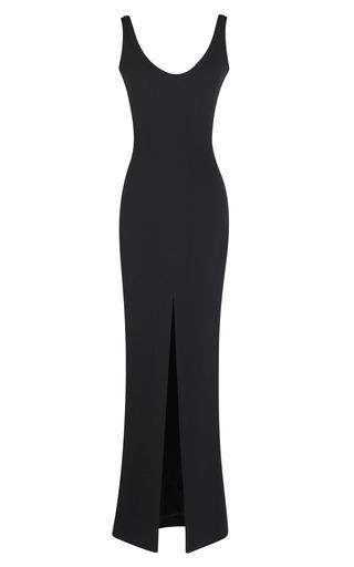 Medium martin grant black slit front siren gown