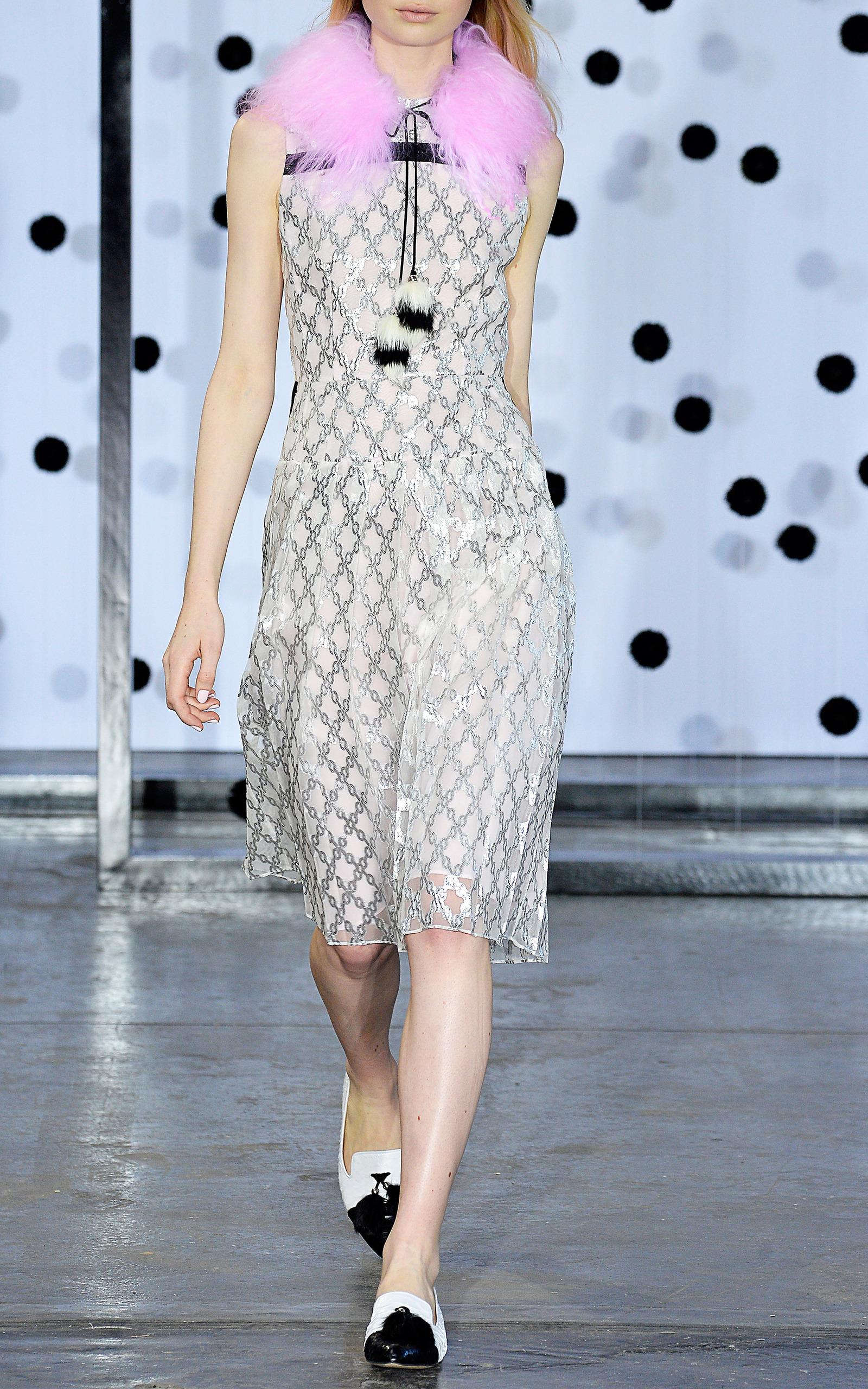 b58bfdc562df Pink Olivia Mongolian Fur Collar by Tanya Taylor | Moda Operandi