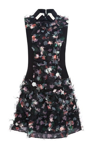 Medium tanya taylor multi carolina embellished washi organza dress