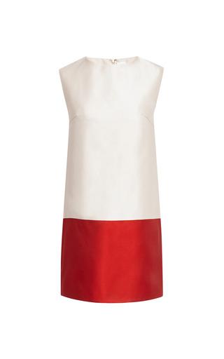 Medium katie ermilio red bordered satin super mini shift