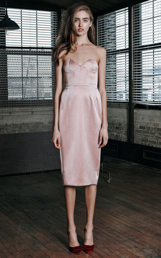 Boned Bodice Party Dress by KATIE ERMILIO for Preorder on Moda Operandi