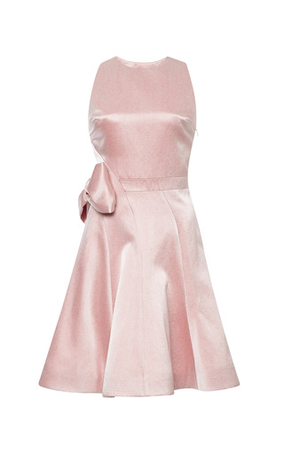Seamed Bow Party Dress by KATIE ERMILIO for Preorder on Moda Operandi