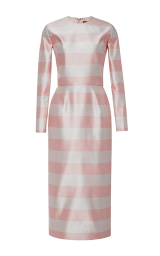 Long Sleeve Striped Sport Sheath by KATIE ERMILIO for Preorder on Moda Operandi