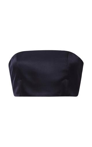 Medium katie ermilio navy satin bandeau corset shell