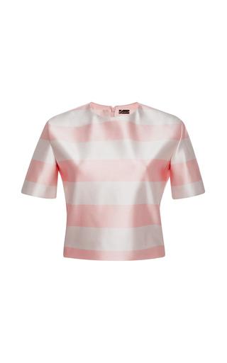 Medium katie ermilio print striped mini tee
