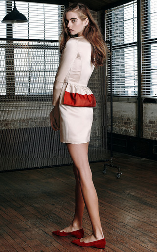 Seamed High Waist Mini Skirt by KATIE ERMILIO for Preorder on Moda Operandi