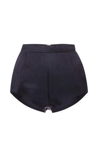 Medium katie ermilio blue navy satin mini brief