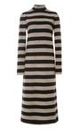Cozy Stripe Turtleneck Long Sleeve Dress by TIBI for Preorder on Moda Operandi
