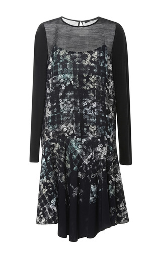 Medium tibi multi floral fields long sleeve dress