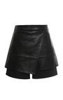 Leather Short Skirt by TIBI for Preorder on Moda Operandi