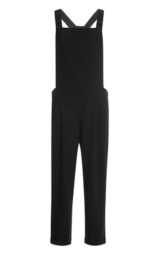 Medium tibi black edie tropical wool jumpsuit