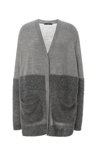 Medium tibi dark grey mohair oversize cardigan