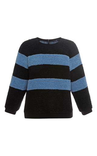 Medium tibi multi panda stripe sweatshirt