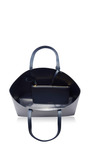 Mini Leather Tote In Navy by MANSUR GAVRIEL Now Available on Moda Operandi