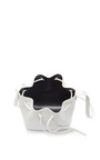 Mini Leather Bucket Bag In White by MANSUR GAVRIEL Now Available on Moda Operandi