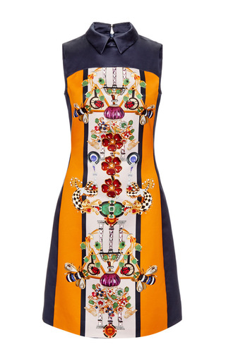 Medium mary katrantzou orange gattaca dress