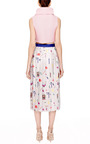 Vaya Printed Pleated Satin Twill Midi Skirt by MARY KATRANTZOU Now Available on Moda Operandi