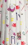 Vaya Printed Pleated Satin Twill Midi Skirt by MARY KATRANTZOU Now Available on Moda Operandi