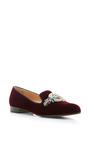 Scott Emblem Embroidered Velvet Loafers by MARY KATRANTZOU Now Available on Moda Operandi