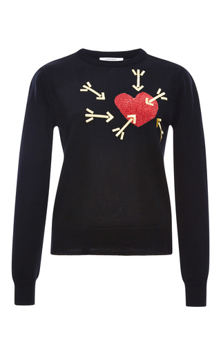 Medium carven black sweater with heart arrows