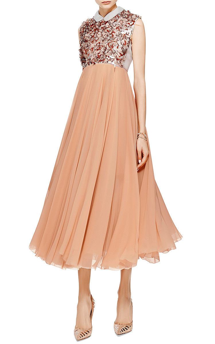 Embellished silk georgette dress by delpozo moda operandi for Silk georgette wedding dress