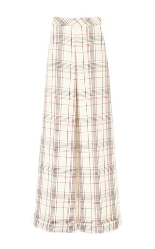 Medium delpozo brown long wide pant with turn up 3