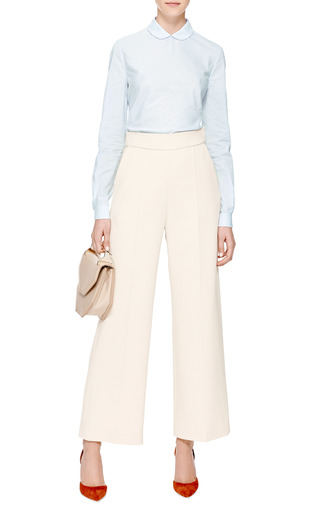 High Waisted Cropped Crepe Pants by DELPOZO Now Available on Moda Operandi