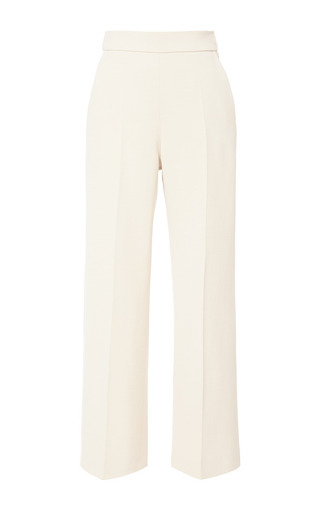 Medium delpozo white above ankle wide pant 5