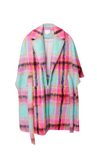Medium delpozo pink cape coat with waist belt 2