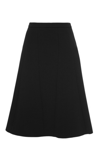 Medium derek lam black a line seamed skirt