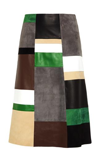 Medium derek lam multi patchwork leather suede