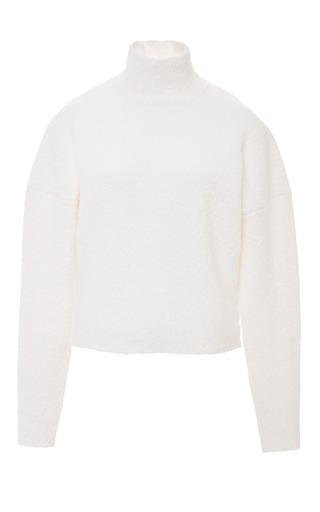 Medium derek lam white dropped shoulder turtleneck sweater