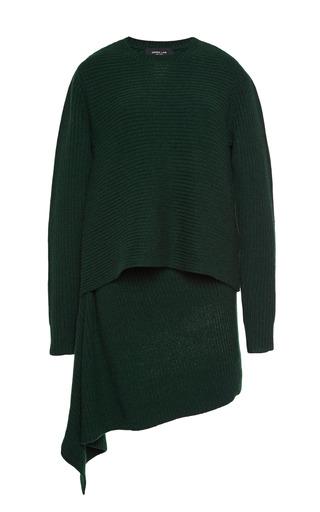 Medium derek lam green asymmetrical tunic 2