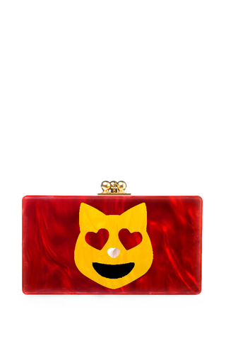 Edie Parker Happy Cat Jean Clutch by EDIE PARKER for Preorder on Moda Operandi