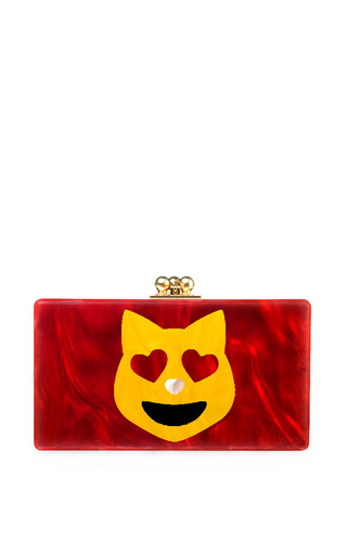 Medium edie parker red edie parker happy cat jean clutch