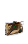 Peacock Pandora Perspex Clutch by CHARLOTTE OLYMPIA Now Available on Moda Operandi